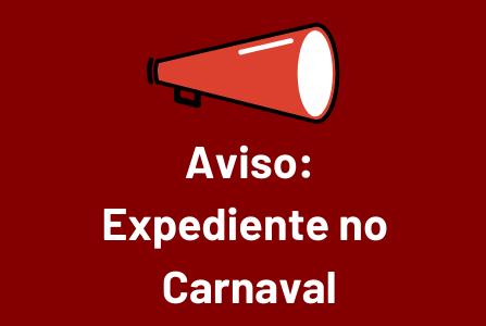 Aviso de Expediente - Carnaval