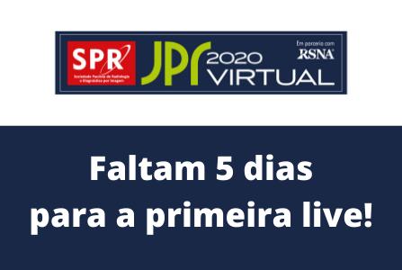 Programe-se: Faltam 5 dias para o início da JPR 2020 Virtual!