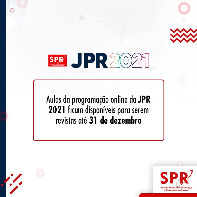 Inscritos na JPR e membros ativos da SPR podem rever os conteúdos da Jornada até 31/12