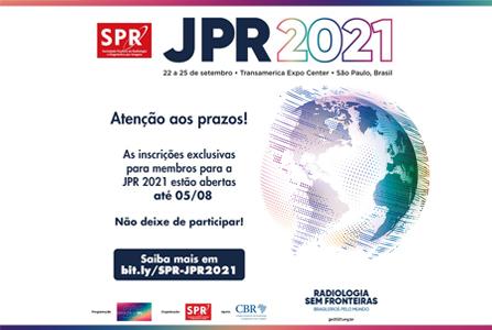 Inscrições para a JPR 2021 estão abertas exclusivamente para membros ativos da SPR!