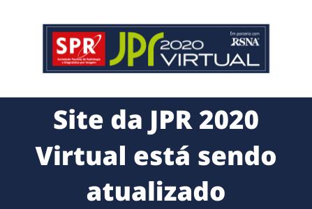 Site da JPR 2020 Virtual está sendo atualizado