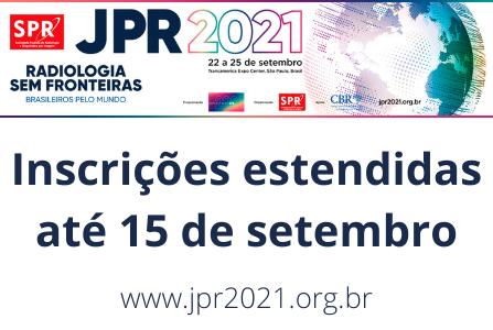 Inscrições da JPR 2021 estendidas até 15 de setembro
