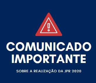 Comunicado oficial da SPR sobre o cancelamento da JPR 2020