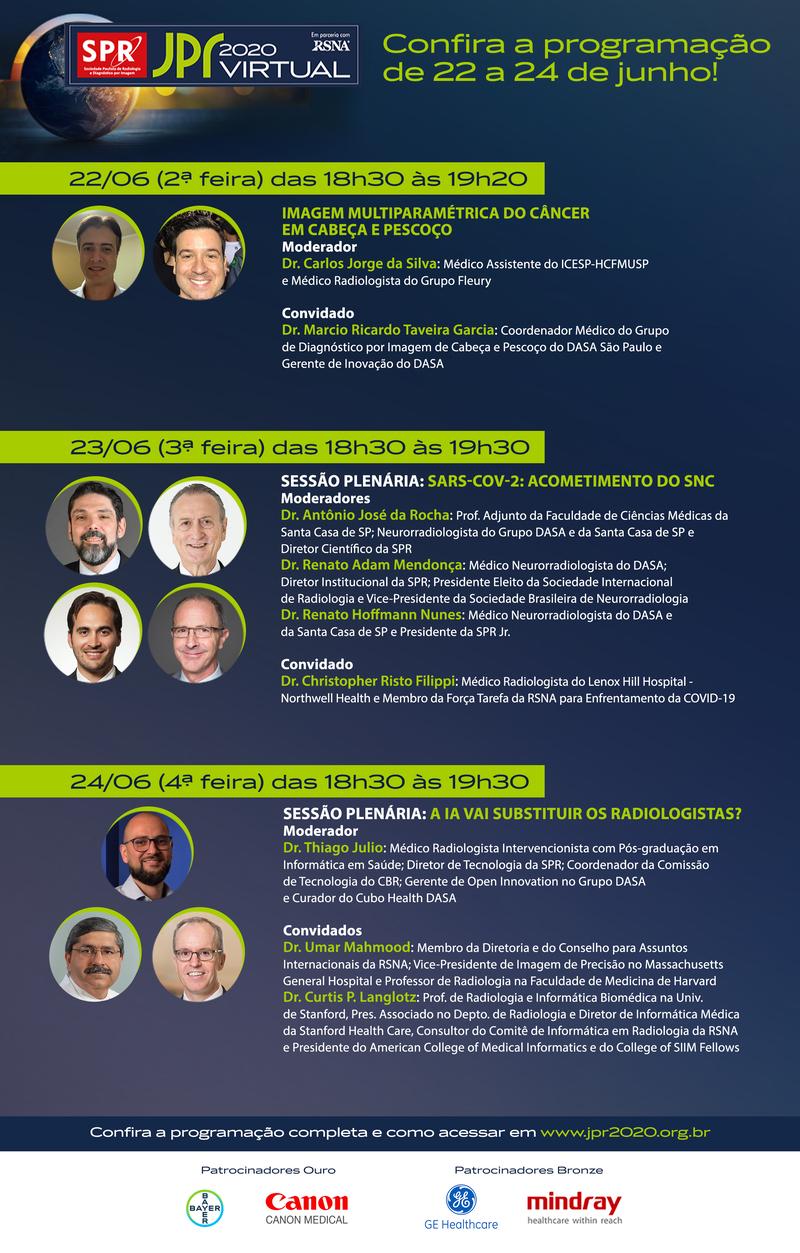 Participe das últimas lives da primeira fase da JPR 2020 Virtual