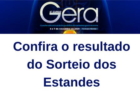 Confira os sorteados da campanha realizada no GERA 2020