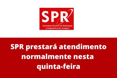 SPR prestará atendimento normalmente nesta quinta-feira (3)