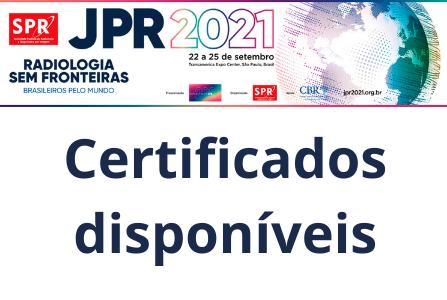 Certificados de congressista da JPR 2021 já estão disponíveis