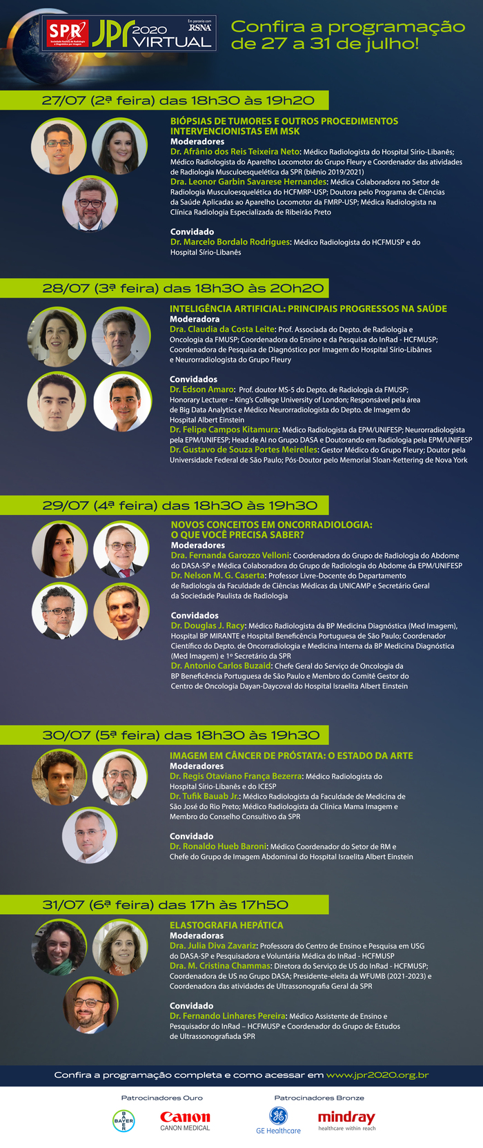 Participe das lives da JPR 2020 Virtual desta semana