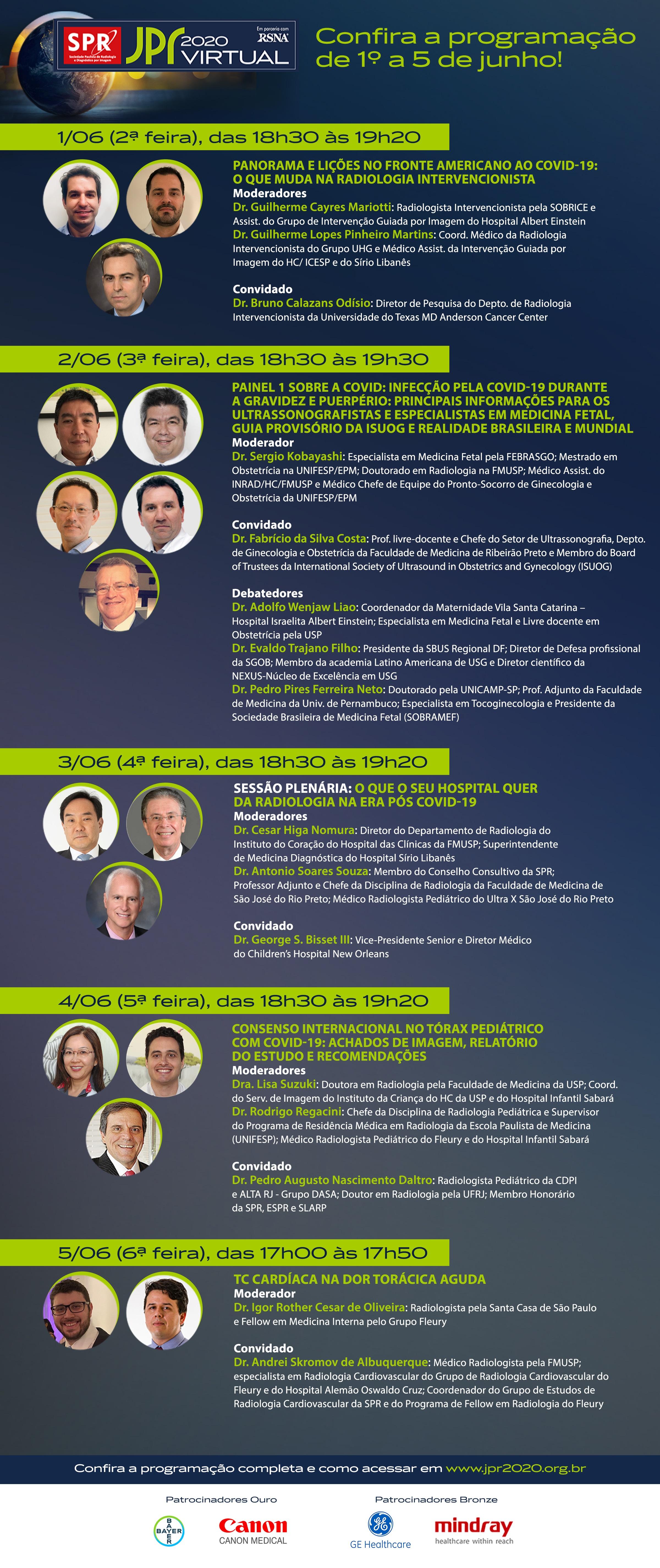 Confira a programação da semana da JPR 2020 Virtual!