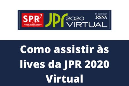 Passo a Passo: Como Assistir às Lives da JPR 2020 Virtual